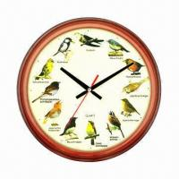 Cheap Bird Wall Clock with 12 Various Bird Tweets, Singing and Chiming for sale