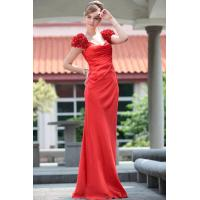 Cheap DORISQUEEN drop shipping hot sale floor length appliqued dark red evening gown for sale
