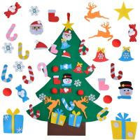 Cheap Educational DIY Felt Christmas Party Crafts Home Door Decoration Gifts For Kids for sale