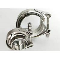 China Stainless Heavy Duty Pipe Clamps Exhaust Type V Band Clamp Flat Flange on sale