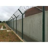 Cheap Metal Materials Green / Steel Security Fencing500g/M2 Zinc Coating Anti Intruder for sale