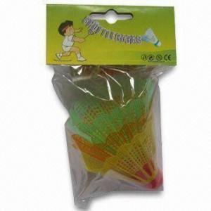 Shuttlecock, Plastic Feather, Plastic Head