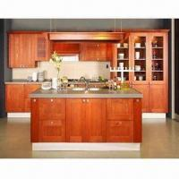 Cheap UV Painting Finish Kitchen Cabinets, Made of Solid Wood, Birch Wood Cabinet Door and Plywood Carcass for sale