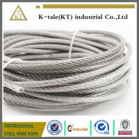 Cheap AISI 304 316 7x19 ground wire Stainless Steel Wire Rope for external use for sale