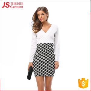 209012 Wholesale Cheap Formal Office Wear Dress for Ladies Women