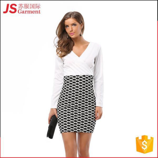 Quality 209012 Wholesale Cheap Formal Office Wear Dress for Ladies Women wholesale