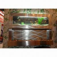Cheap Outdoor/Indoor Horizontal Wall Fountains, Made of Stainless Steel for sale