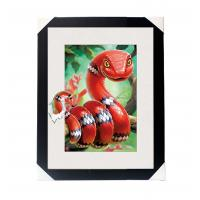 China Amazing 5D 30*40CM Lenticular Picture With PS Frame / 3D Animal Images on sale