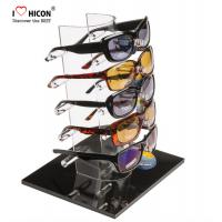 Cheap Tabletop Acrylic Eyewear Display Rack For Brand Shop 5 Pairs Sunglasses Promotion for sale