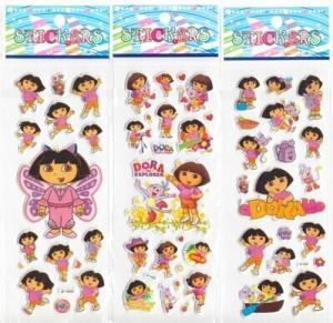 Cartoon foam 0.08–0.3mm PVC / EVA custom puffy stickers can made flower / food shape