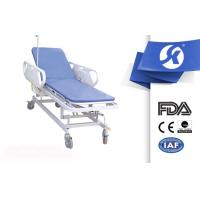 Cheap Adjustable Hospital Medical Patient Stretcher Trolley With Guardrails for sale