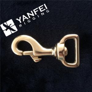 China Solid Brass Swivel Eye Bolt Snap Hook on sale
