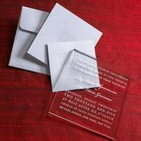 Buy cheap Acrylic Wedding Invitation Cards, Suitable for Wedding/Party, Various Sizes and from wholesalers