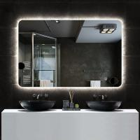 China Bathroom wall mounted vanity wireless bluetooth speaker LED makeup mirror on sale