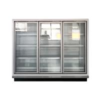 Glass Door Multideck Display Fridge Refrigerator For Dairy And Sausages