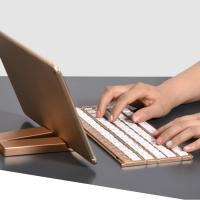 Cheap Single Item Folding Bluetooth Keyboard 180mAh Li - Ion Battery With Stand Holder for sale