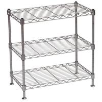 Portable metal steel wire display stands five tier for food beverage