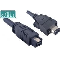 Insulated 1394A 6 Pin with Latches to 180 degree 1394b 9pin Firewire Camera Cable