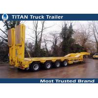 Cheap 2 / 3 Axles 50tons Heavy low bed trailer with hydraulic loading cramps for sale