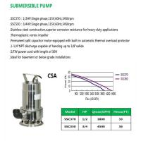 Cheap SUBMERSIBLE PUMP SSC370 SSC550 for sale