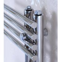 300mm Wide Black Designer Electric Heated Towel Rail: 300mm Wide Wall Mounted Heated Towel Radiator , Brushed