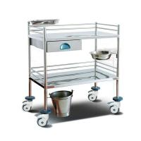 Cheap Surgical Instrument Hospital Patient Trolley , Stainless Steel Medical Equipment Trolley for sale