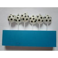 Cheap Football / Soccer Pick Happy Birthday Candles 20.4 G White And Black Printing Wax for sale