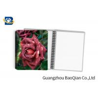 Cheap 0.6mm PET Material Personalized Spiral Notebooks  3D Lenticular Stationery for sale