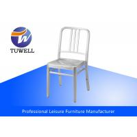 Cheap Durable Armless Outdoor Stackable Aluminum Navy Chair , Aluminum Dining Chairs for sale