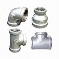 Cheap Malleable Iron Pipe Fittings, Made of ANSI/ASTM A-197/ASTM A47 Material for sale
