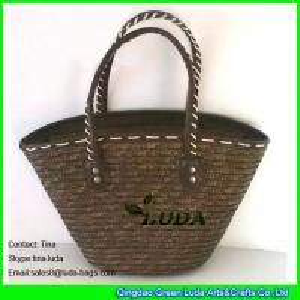 Cheap brown handmade wheat straw summer bags for sale