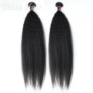 24 inch Burmese  Virgin Hair  / Yaki Straight Human Hair Extensions