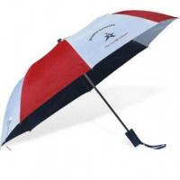 Cheap 2-fold Auto Open Umbrella with Zinc-plated Metal Ribs for sale