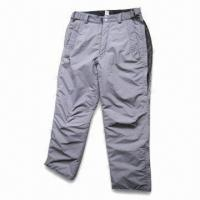 Cheap Ski Pants with Polyester Lining and Padding for sale