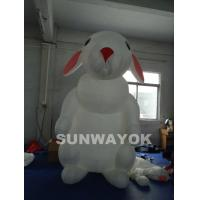 Buy cheap Airtight White Inflatable Advertising Rabbit With Two Coated Side/Airtight  Inflatable Model Of  Cute Rabbit from Wholesalers