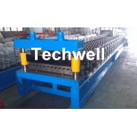Cheap Corrugated Profile Roll Forming Machine , Corrugated Sheet Making Machine With PLC Control System for sale