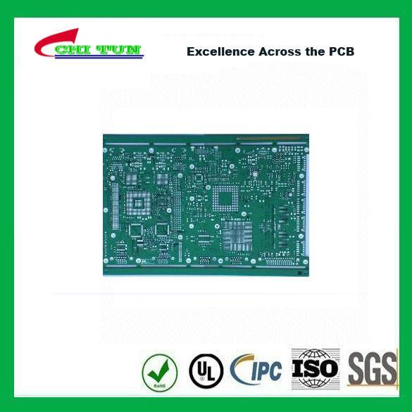 Quality Single Layer PCB Design Bare FR4 1.6MM HASLPCB Green Solder Mask wholesale