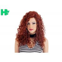 Cheap High Quality Synthetic Wigs Red Color No Lace Synthetic Curly Wigs Natural Looking for sale