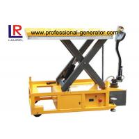 Cheap Mobile Electric Hydraulic Scissor Lift Table For Carrying Cargo / Feeding Platform for sale