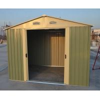 Cheap Easy Build Silver Garden Apex Metal Shed / Garage Shed With 4 Windows 10ft x 10ft for sale