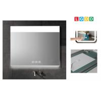 China Customized Demister LED Lighted Mirror / Dimming Backlit Vanity Mirror CE Certificate on sale