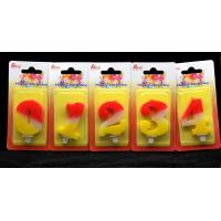 Cheap Contrast Color 100% Handmade Number Candle with Red and Yellow Coloring for sale