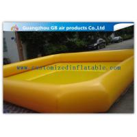 China Indoor / Outdoor Yellow Above Ground Inflatable Pool For Backyard Water Game on sale