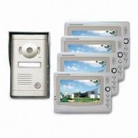 Cheap Wired Video Doorphone with Memory Function, 7-inch LCD Color Display Screen for sale