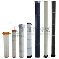 Cheap Pulse Jet Bag Cartridge Filter Element For Dust Collecting 153 * 1000mm Dimension for sale