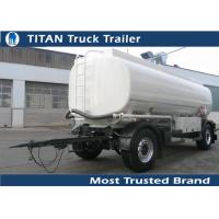 Cheap Large capacity Custom fuel tanker Drawbar Trailer with exchangeable king pin for sale