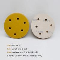 China Hook / Loop Round Sanding Paper , Aluminum Oxide Abrasive 5 Inch Round Sanding Discs on sale