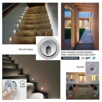Cheap High Power 3W Mini Recessed LED Wall Lights IP65 Waterproof for  Stair and Celling wholesale