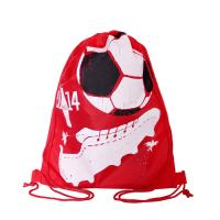 Cheap Full Side Printed Polyester Drawstring Backpack , Outdoor Gym Sports Backpack for sale