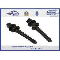 Black painting Track Railway Sleeper Fixing Screws With Washers
